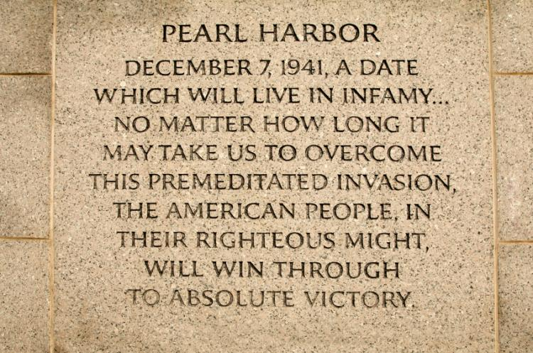 Pearl Harbor – Remembrance Day 2019